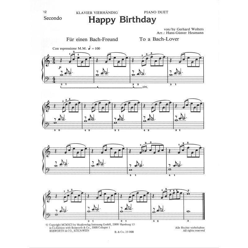 Happy Birthday Variationen Fur Klavier Hans Gunter Heum 9783920127484 Gunstig Kaufen Ebay