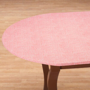 details about fitted vinyl table cover 40 44 45 56 round 42 x 68 oval oblong colors