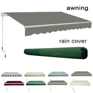 details about garden patio manual awning sun shade shelter retractable canopy free rain cover
