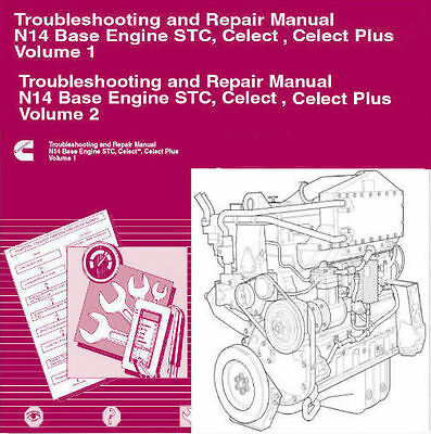 cummins n14 2010 stc celect celect plus service manual diesel engine  repair cd  ebay