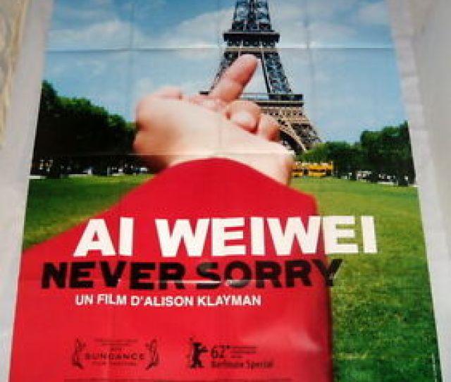 Image Is Loading Ai Weiwei Never Sorry China Modern Art Eiffel