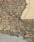 HD Decor Images » United States MAP of LOUISIANA New Orleans circa 1876 Vintage Repro     Image is loading United States MAP of LOUISIANA New Orleans circa