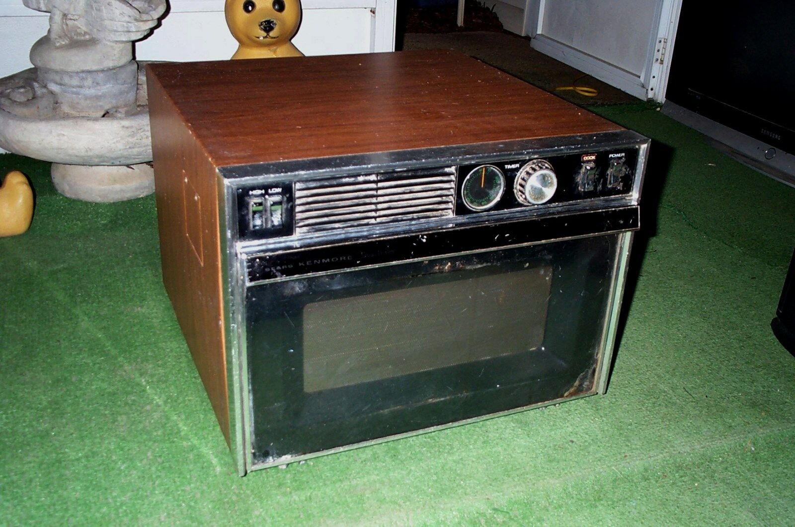 microwave oven vintage 1970 s 1980 sears kenmore rotary knobs antique appliance