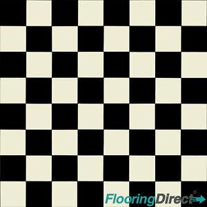 details about black white square tile chessboard vinyl flooring kitchen lino cushion floor