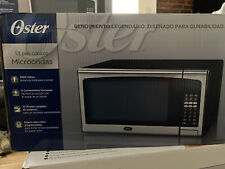 oster countertop microwave oven stainless steel trim 1 3 cu ft 1000w led display