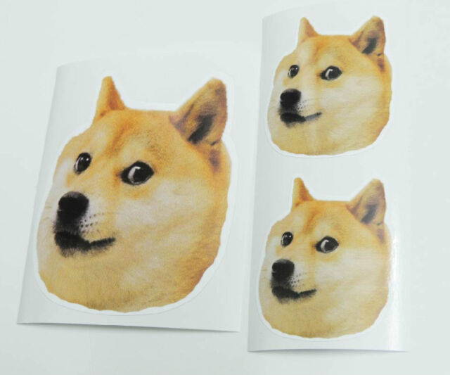 3 X Doge Stickers Decals 10 5cm Meme Awesome Such Wow Shibe