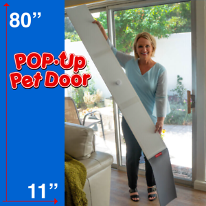 details about fold away pop up pet door for patio screen sliding glass doors 10 x24 flap