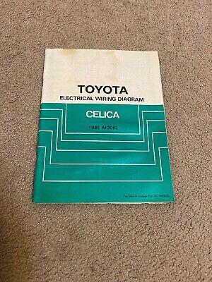 1985 toyota celica electrical wiring diagram  ebay