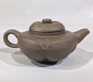 Antique Qing Dynasty Yixing Clay Star Pumpkin Teapot