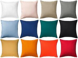 Détails Sur 100 Coton Ikea Gurli Housse De Coussin 50 X 50 Cm Orange Foncé Bleu Vert Jaune Afficher Le Titre Dorigine