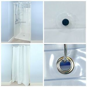 details about 54 x 78 peva shower stall curtain liner with microban 3 weights and 2 colors
