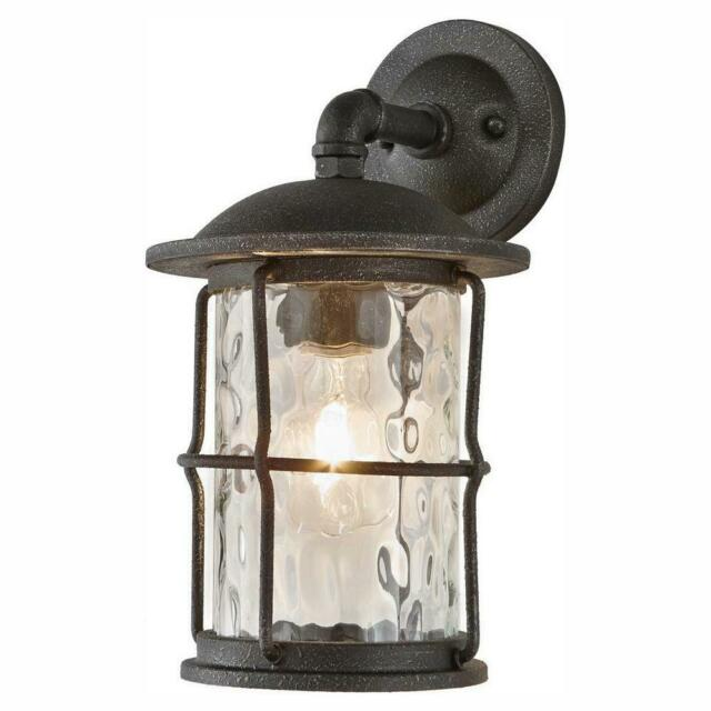 home decorators collection 1 light gilded iron outdoor wall mount lantern