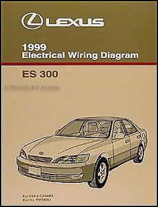 1999 Lexus ES 300 Wiring Diagram Manual Original ES300