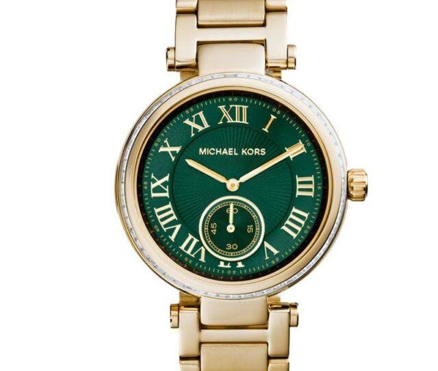 Michael Kors Mk6065 Ladies Skylar Green Gold Watch