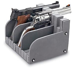 details about 3 gun safe pistol rack handgun storage holder organize display stand safety case
