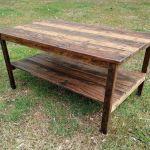 Coffee Table Reclaimed Pallet Wood Upcycled Handmade Vintage Rustic Look Ebay