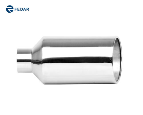 car truck parts inlet 4 outlet 8 long 18 rolled angle cut truck exhaust tip tail pipe muffler car truck exhausts exhaust parts