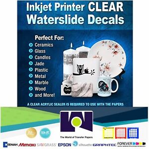 Details About 5sh 8 5 X11 Inkjet Printable Water Slide Decal Transfer Paper Clear