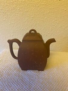 Beautiful Vintage Chinese Yixing Zisha Clay Teapot excellent condition, signed
