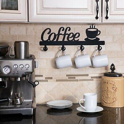 coffee decor kitchen wall decor coffee bar mug cup rack holder display cafe ebay