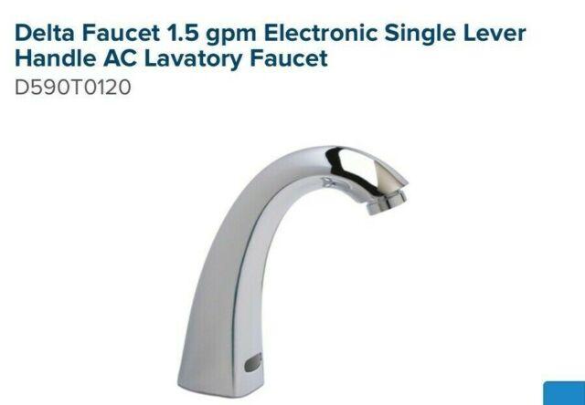 delta 590t1120 chrome commercial single handle lavatory sink faucet