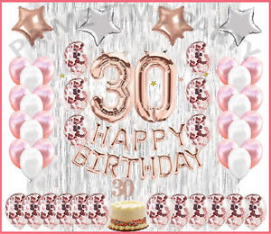 30th Birthday Decorations Rose Gold 30 Birthday Party Supplies Dirty 30 Party Ebay