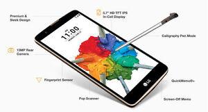 LG Stylo 2 Plus * UNLOCKED * MS550 MetroPCS - 16GB Black - AT&T, T-Mobile, H2O