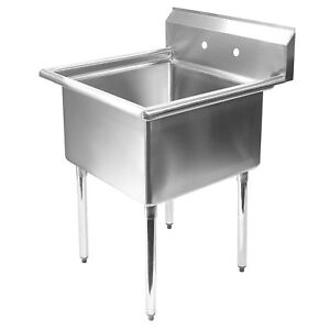 details about stainless steel commercial kitchen utility sink 30 wide