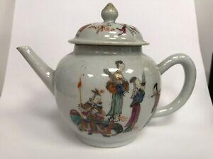 Antique Chinese porcelain teapot, 18th century.