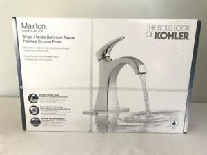 details about kohler maxton 1 handle bathroom sink faucet drain polished chrome r224754dcp