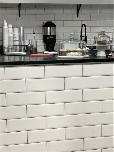 floor wall tiles pack of 18 white 4x10 beveled shiny ceramic subway tile backsplash wall kitchen home improvement