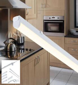 details about led linkable kitchen under cabinet cupboard strip lights link warm cool white