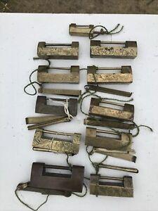 Chinese Antique Bronze Locks And Keys 11X
