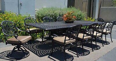 elisabeth 11pc outdoor dining patio set santa clara rectangular extendable table 35426205692 ebay