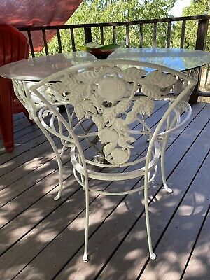 rare vintage brown jordan pomegranate wrought iron patio table 8 chairs 1950s ebay