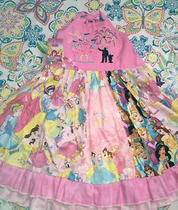 Girls Sz 7 8 9 Boutique Walt Disney Pink Princess Birthday Dress Jewelry Ebay