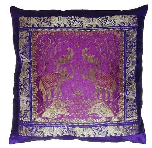 indian ethnic banarasi brocade cushion covers designer elephant 16 inch pillow ethnic pillows home garden