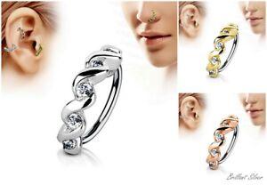 Nasenring Nasenpiercing Nasenstecker Hoop Piercing Ohr Helix Cartilage Spirale