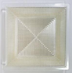 details about vtg crosscut holophane recessed ceiling light cover square 8 3 8 art metal co