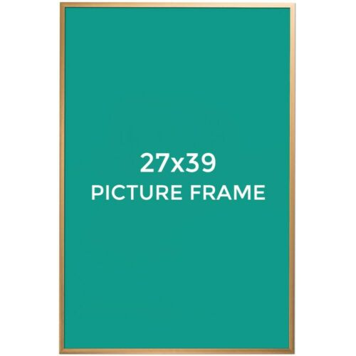 gold acrylic 27 x 39 bronze modern metal picture frame poster frame