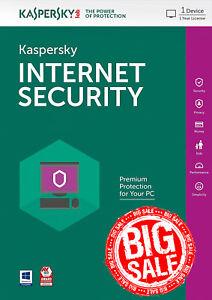 Kaspersky Internet Security 2018 1 PC / User / 1 Year / Antivirus / Download ESD