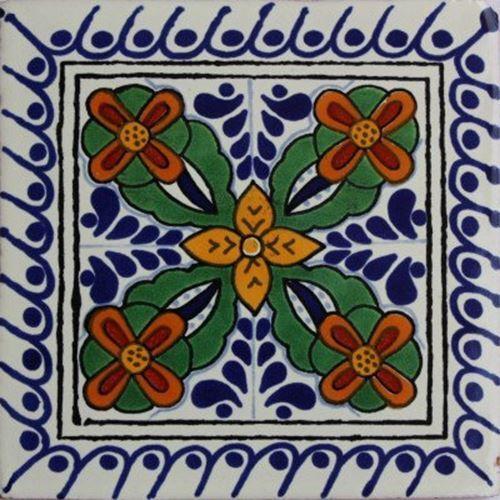 flooring tiles 6x6 4 pcs cacerez talavera mexican tile other flooring