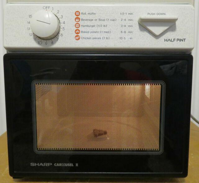 sharp half pint carousel ii r 1m53 compact microwave oven 5 cu ft 120v 8a