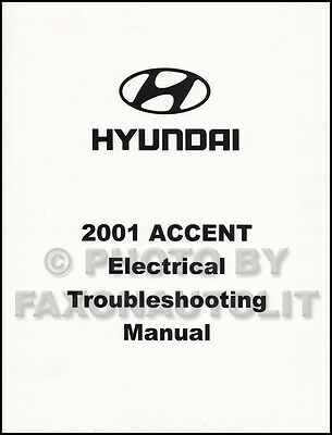 2001 hyundai accent electrical troubleshooting manual wiring diagram book  oem  ebay