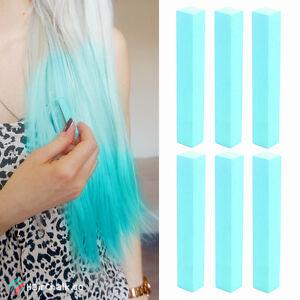 best light teal hair dye set of 6 chalks turquoise color diy hair chalk