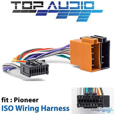pioneer to iso wiring harness for dehx8550bt dehx6550bt deh4550bt  dehx3550ui  ebay