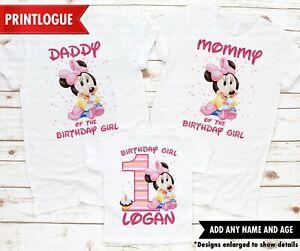 Baby Minnie Mouse Birthday Shirt Minnie Mouse Birthday Shirt Family Shirt Ebay