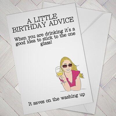 Lustige Geburtstagskarte Wein Liebhaber Destille Best Friend Madchen Weibliche Frau Prosecco Ebay