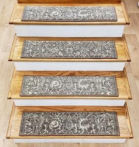 Rug Depot 15 Traditional Non Slip Carpet Stair Treads 31 X 8   Oriental Carpet Stair Treads   Kings Court   Stair Runner   Carpet Runners   Rug Depot   Flooring
