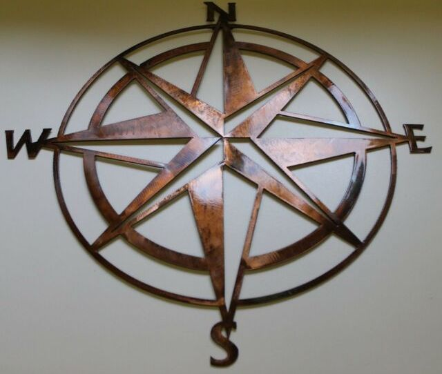 Iron Compass Rose Nautical Wall Plaque For Sale Online Ebay